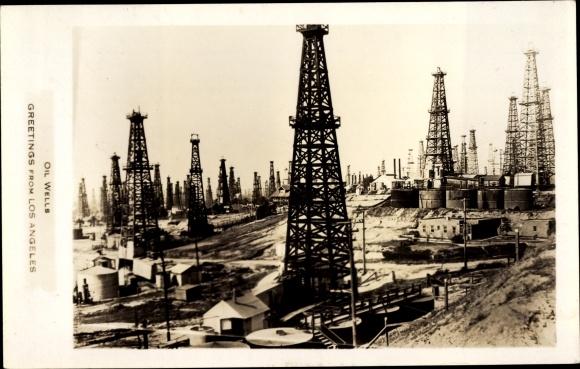 Ak Los Angeles Kalifornien USA, Oil Wells