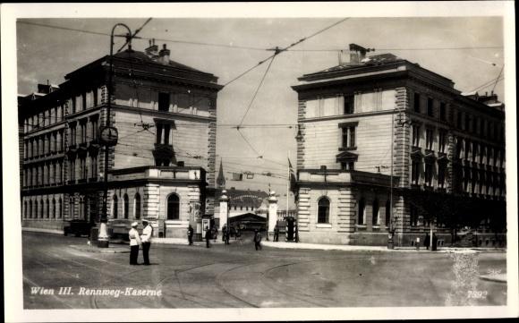 Ak Wien Landstraße, Rennweg Kaserne