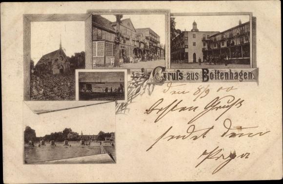 Ak Ostseebad Boltenhagen, Kirche, Strand, Markt