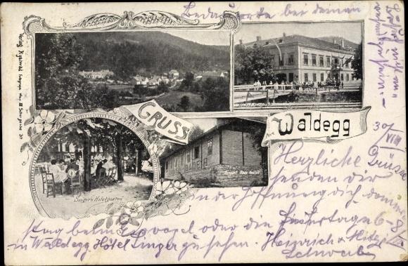 Ak Waldegg in Niederösterreich, Totale, Gartenetablissement