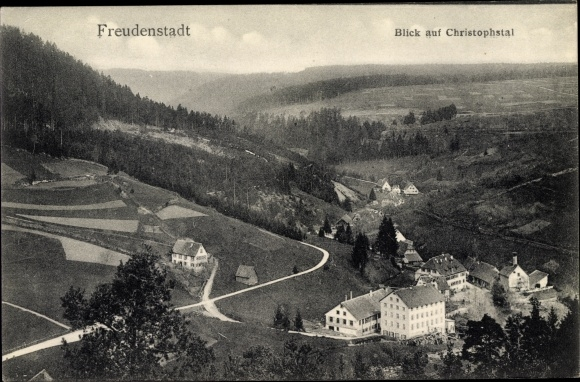 Ak Freudenstadt im Nordschwarzwald, Blick auf Christophstal