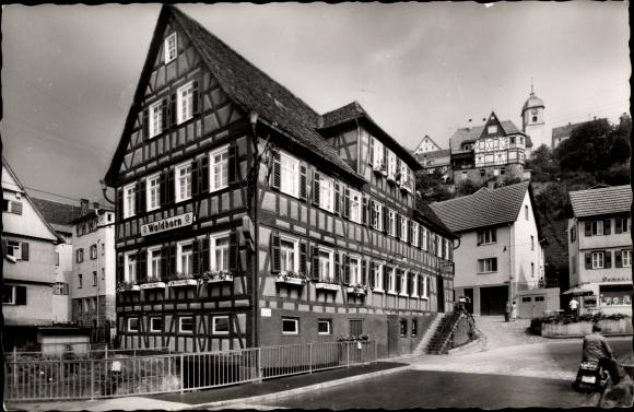 Ak Altensteig im Kreis Calw Baden Württemberg, Gasthof Pension Waldhorn