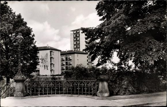 Ak Pforzheim im Schwarzwald, Hochhaus in der Calwer Straße