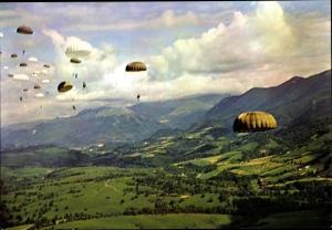Ak Französische Fallschirmjäger, Regiment parachutiste