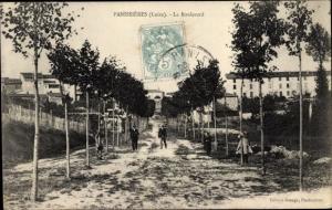 Ak Panissières Loire, Le boulevard