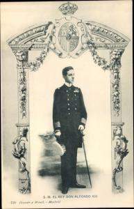 Ak El Rey Don Alfonso XIII., König Alfons XIII. von Spanien