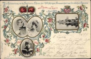 Ganzsachen Ak Regensburg, 150 jährige Anwesenheit des Hauses von Thurn und Taxis 1898