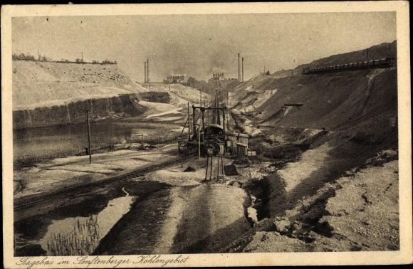 Ak Tagebau im Senftenberger Kohlengebiet, Grube Ilse