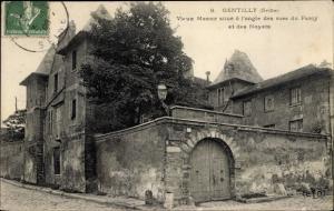 Ak Gentilly Val-de-Marne, Vieux Manoir situé à l'angle des rues du Paroy et des Noyers