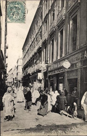 Ak Constantine Algerien, Rue Caraman