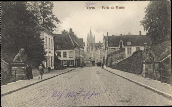 Ak Ypres Westflandern, Porte de Menin