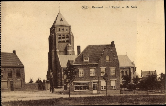 Ak Kemmel Westflandern Belgien, L'Église, De Kerk