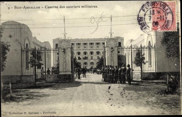 Ak Bizerte Ferryville Tunesien, Arsenal de Sidi Abdallah, Caserne des ouvriers militaires