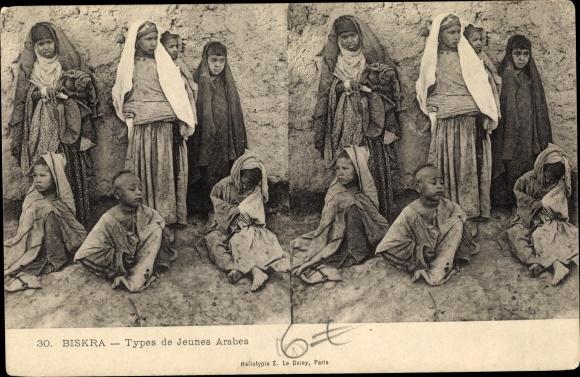 Stereo Ak Biskra Algerien, Types de jeunes arabes