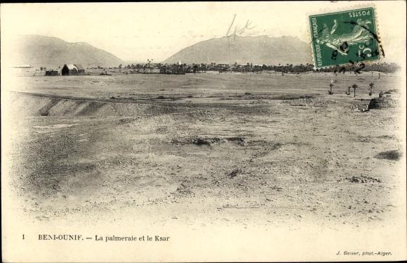 Ak Beni Ounif Algerien, La palmeraie et le Ksar