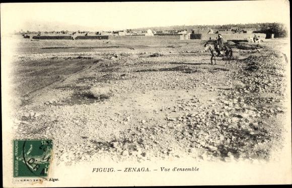Ak Figuig Zenaga Marokko, Vue d'ensemble