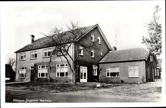 Foto Ak Markelo Overijssel Niederlande, Pension Boszicht, G. Ouden Ampsen, Twikkelerweg 13