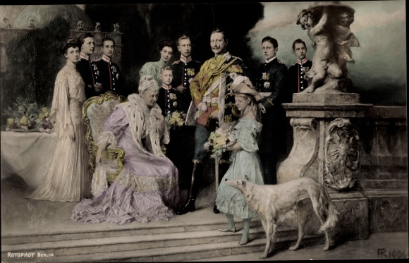 Künstler Ak Deutsches Kaiserhaus unter Kaiser Wilhelm II.