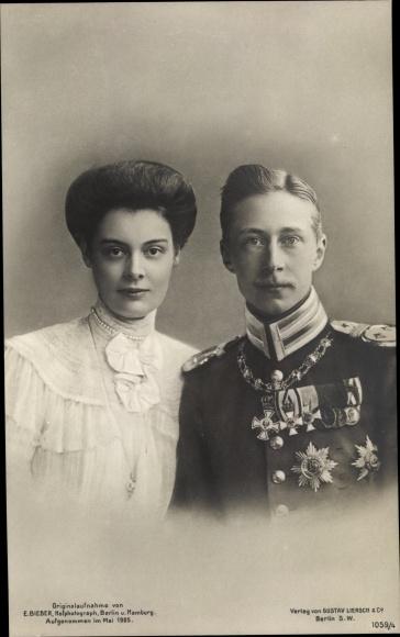 Ak Kronprinz Wilhelm von Preussen, Kronprinzessin Cecilie von Preußen, Liersch 1059 4