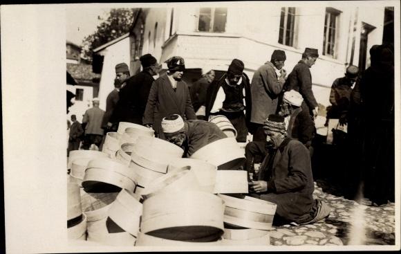 Foto Ak Arabische Siebverkäufer, Männer, Turbane
