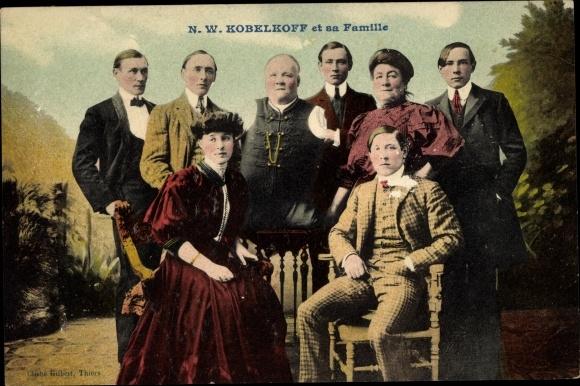 Ak N.W. Kobelkoff et sa Famille, Mann ohne Gliedmaßen