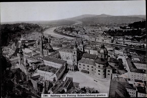 Foto Salzburg in Österreich, Blick von der Festung Hohensalzburg aus