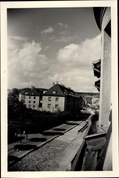 Foto Gera in Thüringen, Sraßenszene, Baustelle