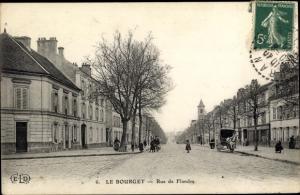 Ak Le Bourget Seine-Saint-Denis, Rue de Flandre