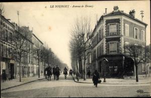 Ak Le Bourget Seine-Saint-Denis, Avenue de Drancy