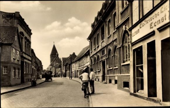 Ak Grimmen in Mecklenburg Vorpommern, August Bebel Straße
