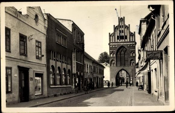 Ak Teterow in Mecklenburg Vorpommern, Rostocker Tor