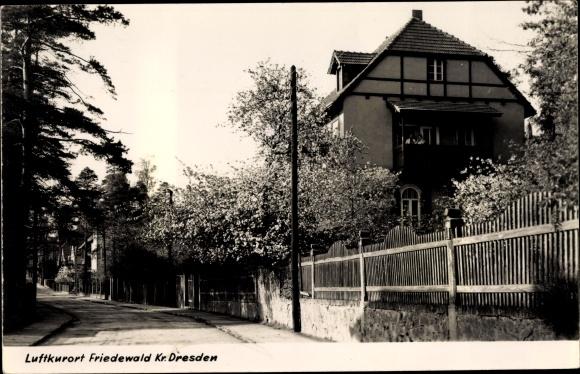 Ak Friedewald Moritzburg in Sachsen, Ortspartie