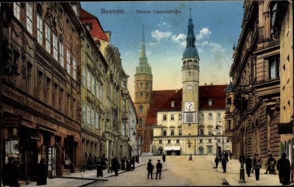 Ak Bautzen in der Lausitz, Innere Lauenstraße