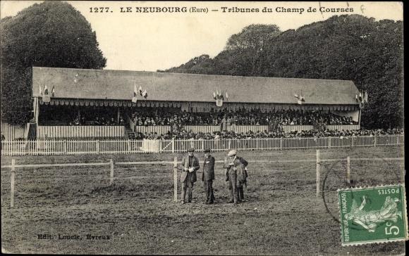 Ak Neubourg Eure, Tribune du Champ de Courses