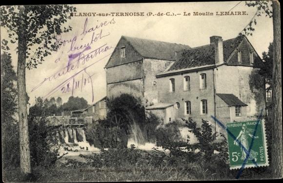 Ak Blangy sur Ternoise Pas de Calais, Moulin Lemaire
