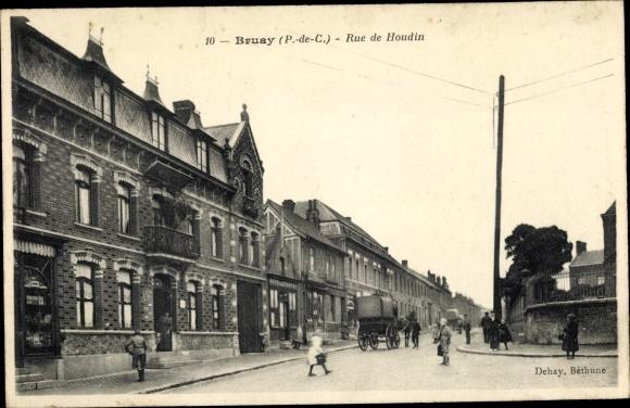 Ak Bruay Pas de Calais, Rue de Houdin
