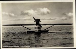 Ak Wasserflugzeug Dornier Delphin auf dem Bodensee, Verkehrsflugzeug