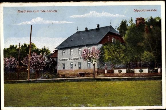Ak Dippoldiswalde im Osterzgebirge, Gasthaus zum Steinbruch