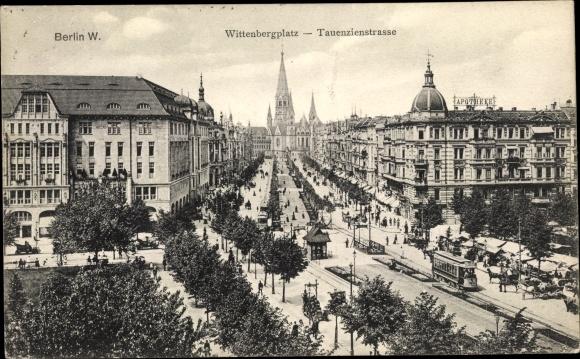 Ak Berlin Schöneberg, Wittenbergplatz, Tauentzienstraße