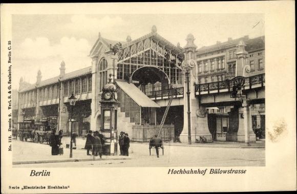 Ak Berlin Schöneberg, Hochbahnhof Bülowstraße
