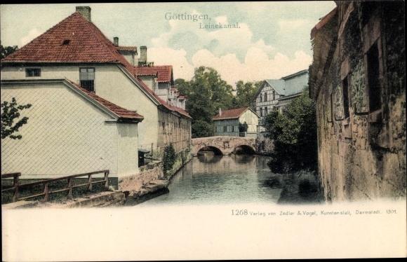 Ak Göttingen in Niedersachsen, Leinekanal