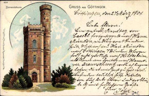 Litho Göttingen in Niedersachsen, Bismarckturm