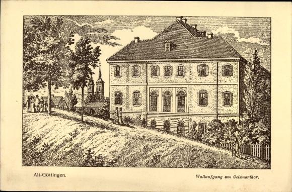 Künstler Ak Göttingen, Wallaufgang am Geismartor