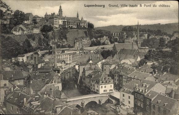 Ak Grund Luxemburg, Ville haute et Pont du Château