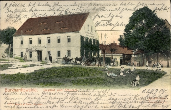 Ak Burkhardswalde Müglitztal Sachsen, Gasthof und Brauerei