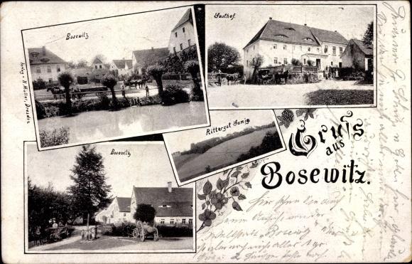 Ak Bosewitz Dohna Sachsen, Gasthof, Rittergut