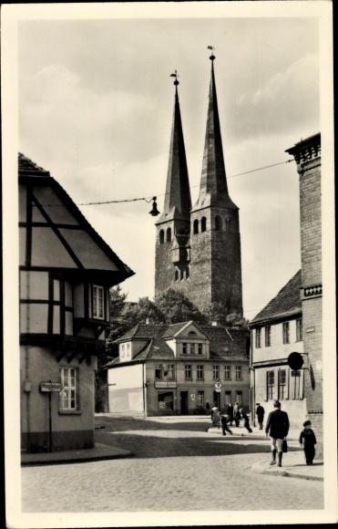 Ak Burg bei Magdeburg, Nicolaikirche