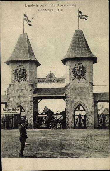 Ak Hannover in Niedersachsen, Landwirtschaftliche Ausstellung 1914