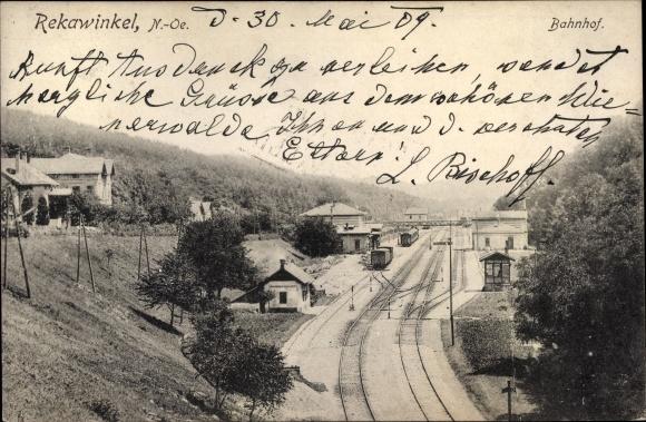 Ak Rekawinkel Pressbaum Niederösterreich, Bahnhof