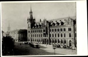 Ak Erfurt in Thüringen, Hauptpost um 1885, Pferdebahn
